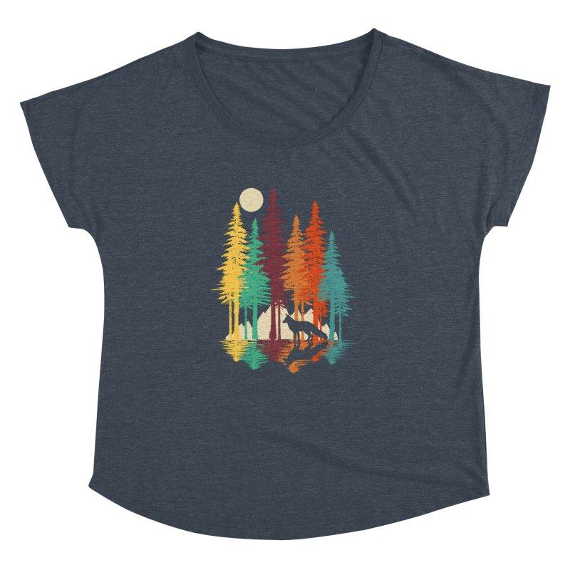 Forest Fox Women's Dolman Scoop Neck by clingcling's Artist Shop