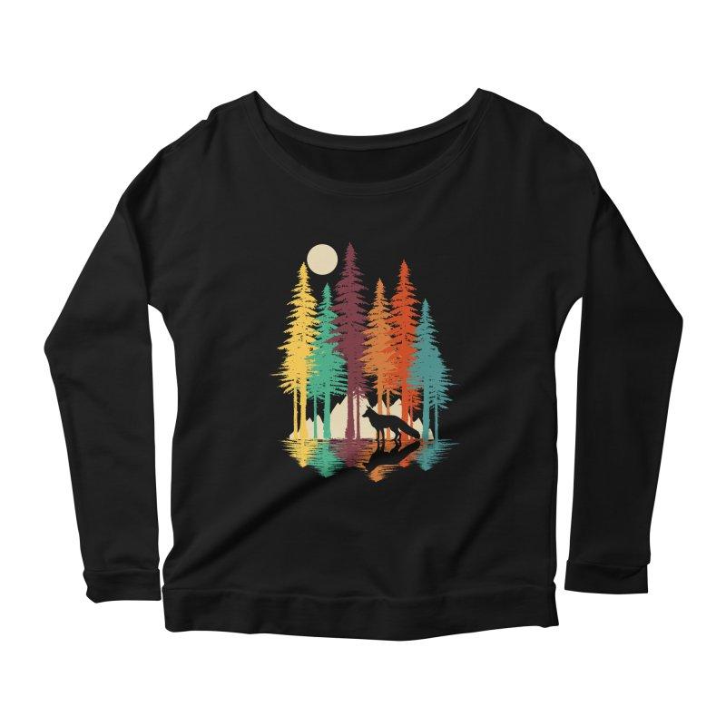 Forest Fox Women's Scoop Neck Longsleeve T-Shirt by clingcling's Artist Shop