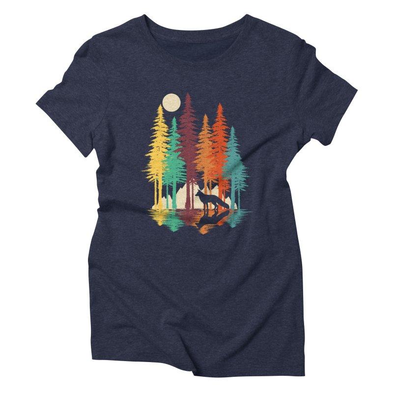 Forest Fox Women's Triblend T-Shirt by clingcling's Artist Shop