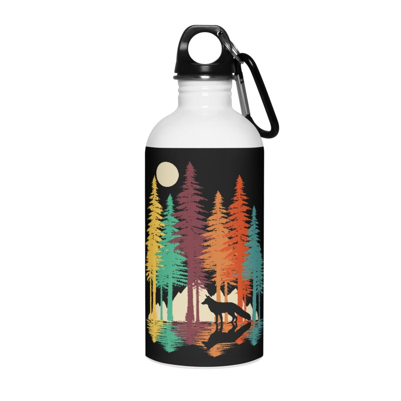 Forest Fox Accessories Water Bottle by clingcling's Artist Shop