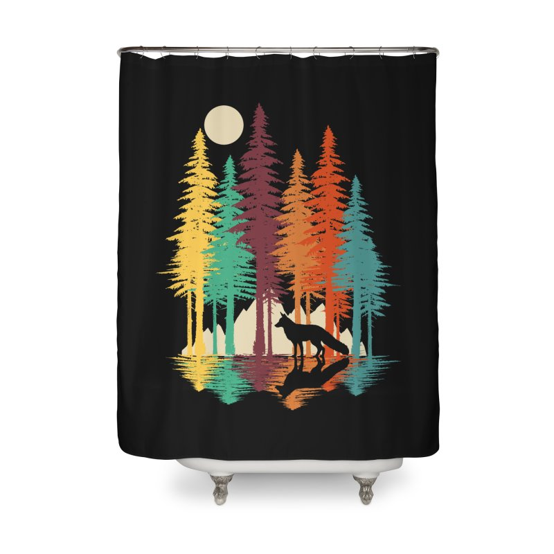 Forest Fox Home Shower Curtain by clingcling's Artist Shop