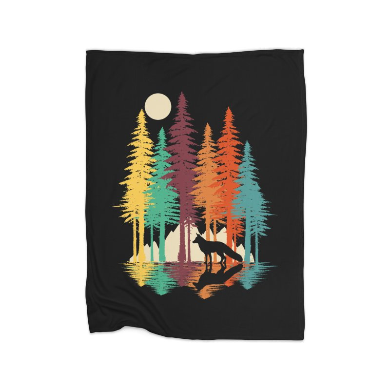 Forest Fox Home Fleece Blanket Blanket by clingcling's Artist Shop