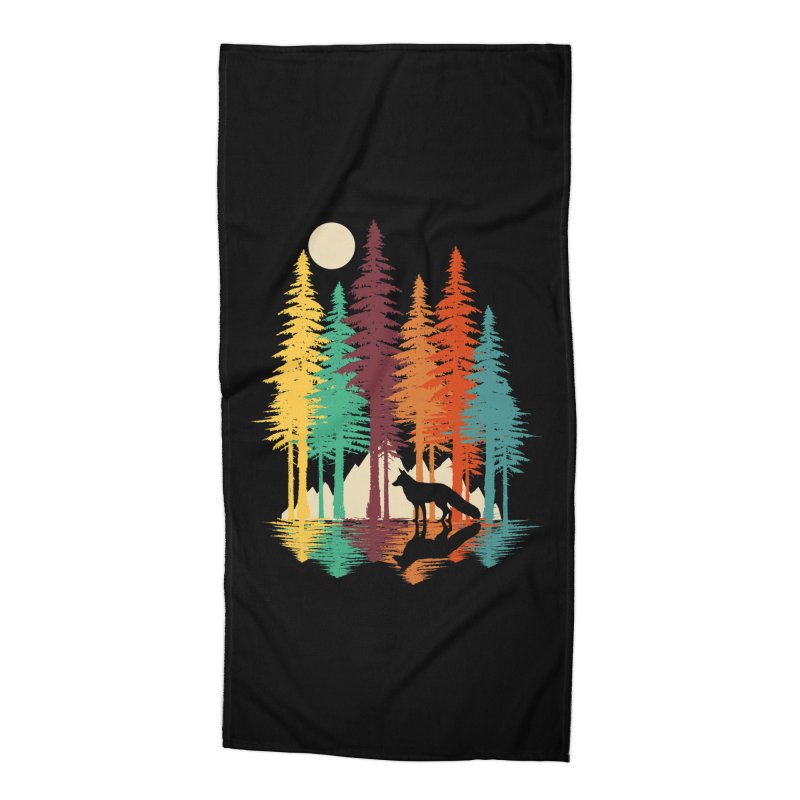 Forest Fox Accessories Beach Towel by clingcling's Artist Shop