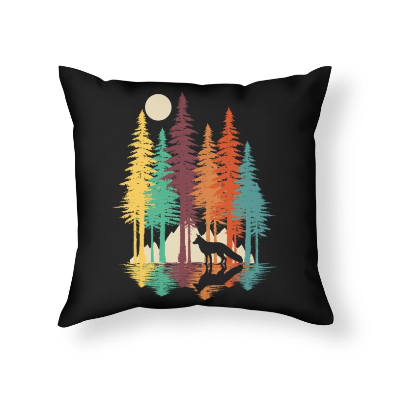 Forest Fox Home Throw Pillow by clingcling's Artist Shop