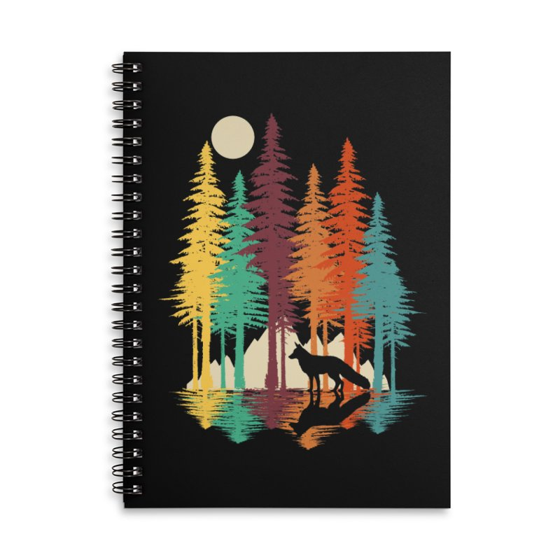 Forest Fox Accessories Lined Spiral Notebook by clingcling's Artist Shop