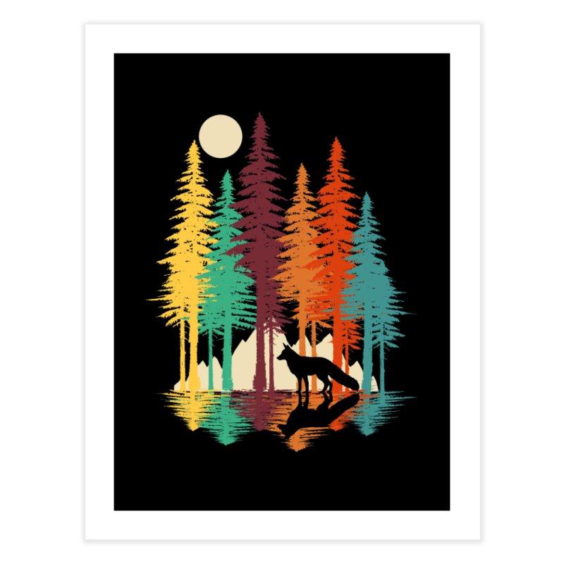 Forest Fox Home Fine Art Print by clingcling's Artist Shop
