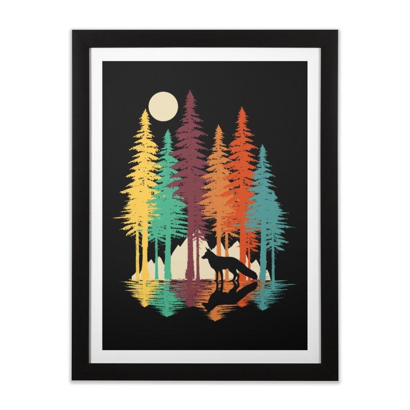 Forest Fox Home Framed Fine Art Print by clingcling's Artist Shop
