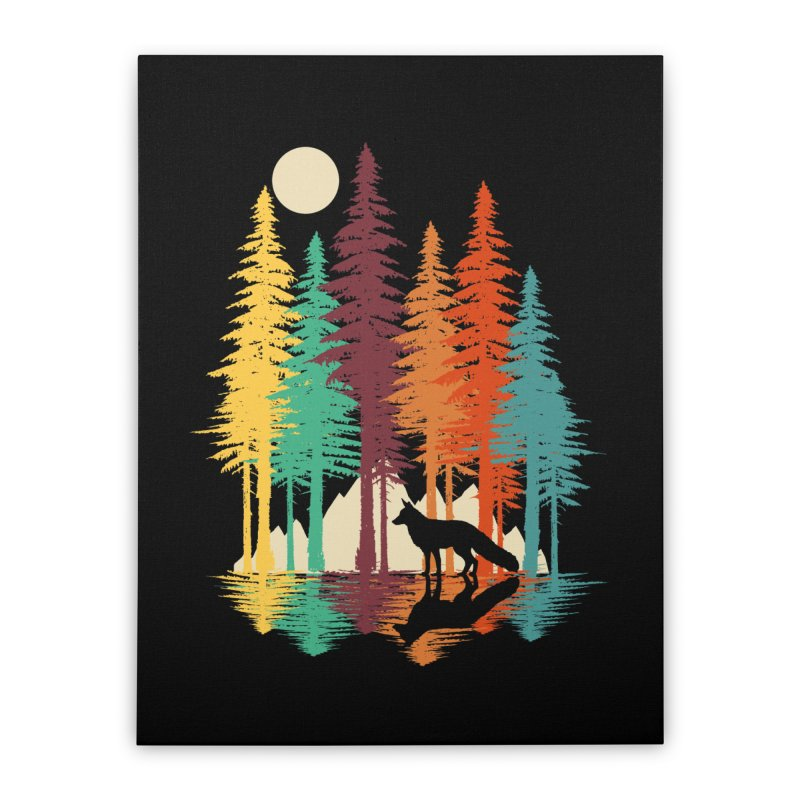 Forest Fox Home Stretched Canvas by clingcling's Artist Shop