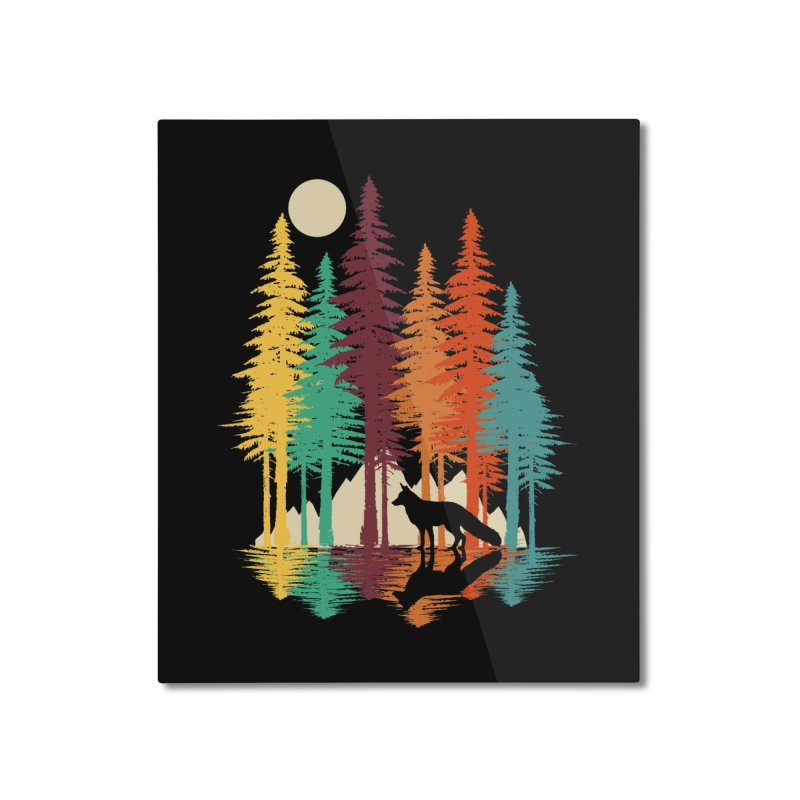 Forest Fox Home Mounted Aluminum Print by clingcling's Artist Shop