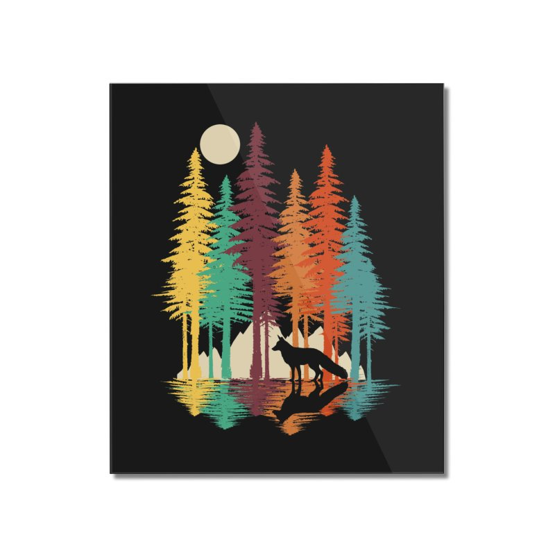 Forest Fox Home Mounted Acrylic Print by clingcling's Artist Shop