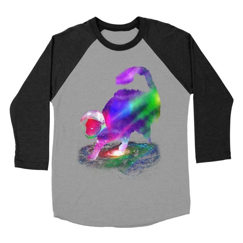 Galaxy Cat Men's Baseball Triblend Longsleeve T-Shirt by clingcling's Artist Shop