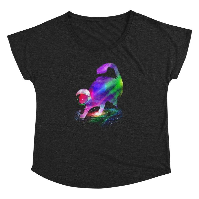 Galaxy Cat Women's Dolman Scoop Neck by clingcling's Artist Shop