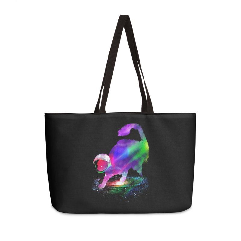 Galaxy Cat Accessories Weekender Bag Bag by clingcling's Artist Shop