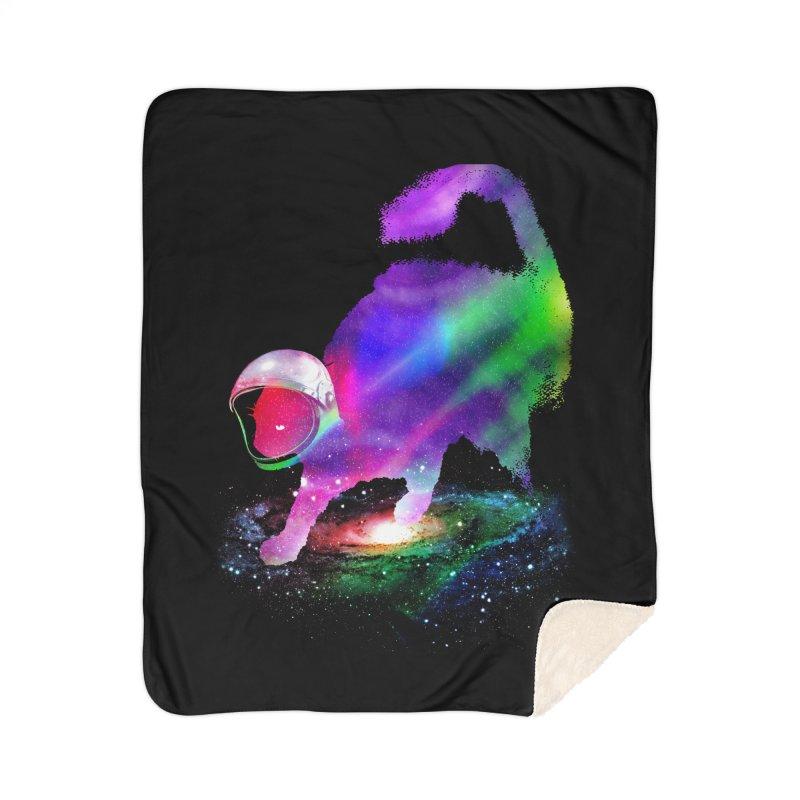 Galaxy Cat Home Sherpa Blanket Blanket by clingcling's Artist Shop