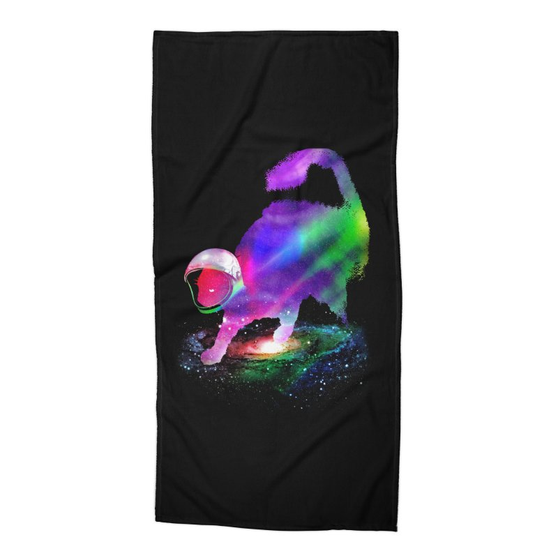 Galaxy Cat Accessories Beach Towel by clingcling's Artist Shop