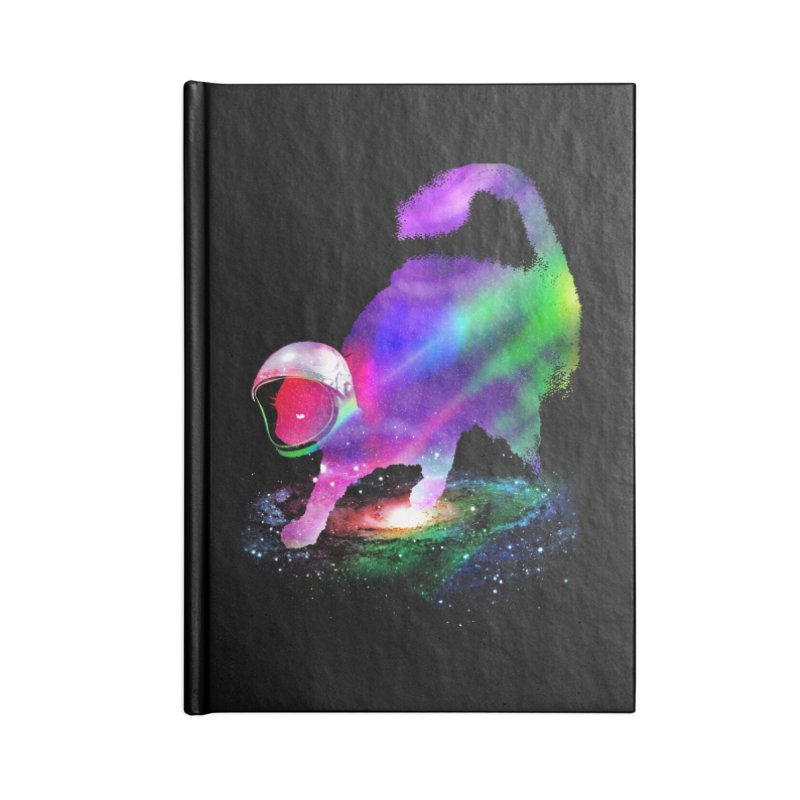 Galaxy Cat Accessories Blank Journal Notebook by clingcling's Artist Shop