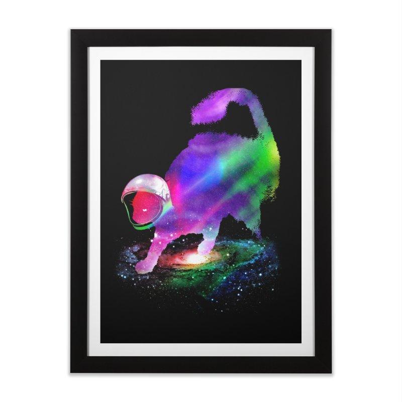 Galaxy Cat Home Framed Fine Art Print by clingcling's Artist Shop