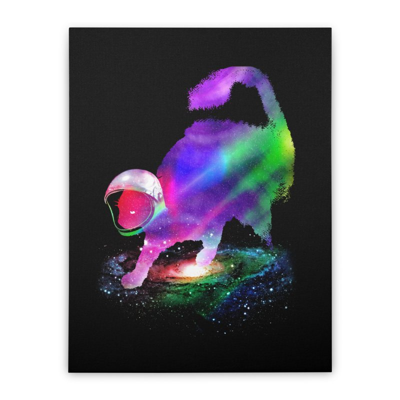 Galaxy Cat Home Stretched Canvas by clingcling's Artist Shop
