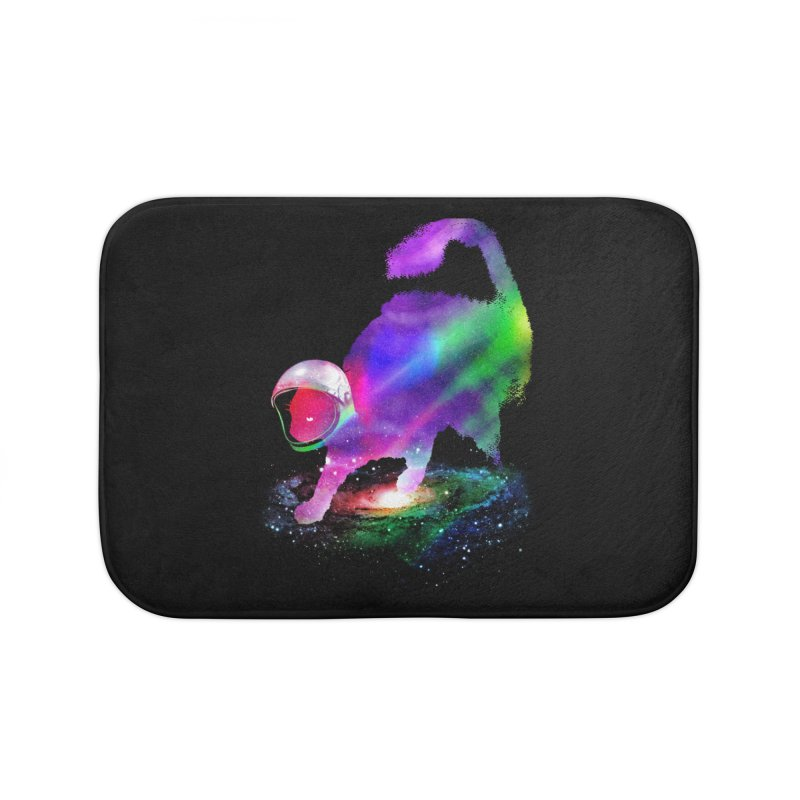 Galaxy Cat Home Bath Mat by clingcling's Artist Shop