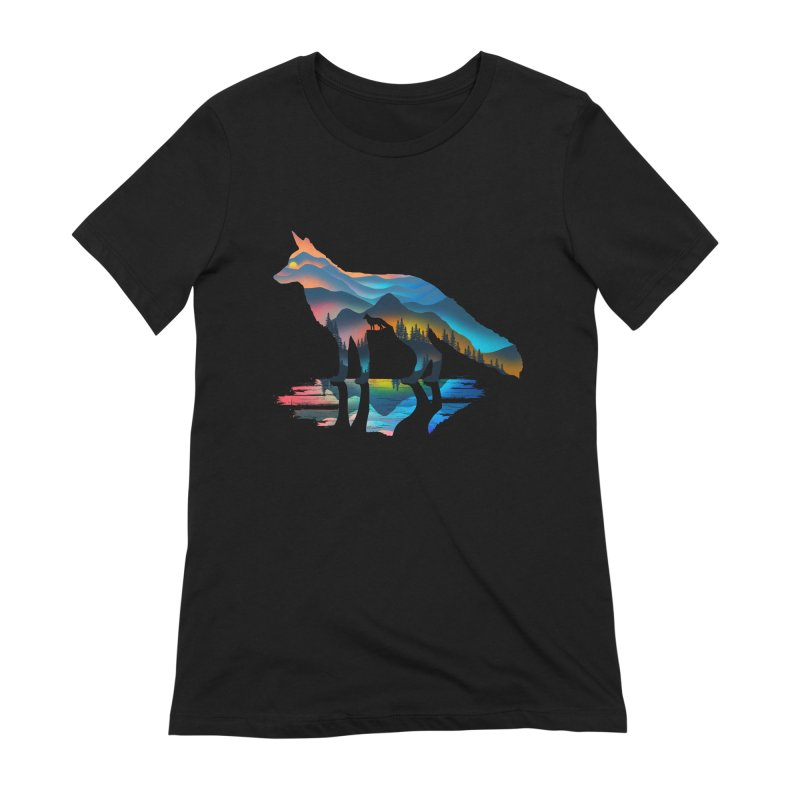Mountain Fox Women's Extra Soft T-Shirt by clingcling's Artist Shop