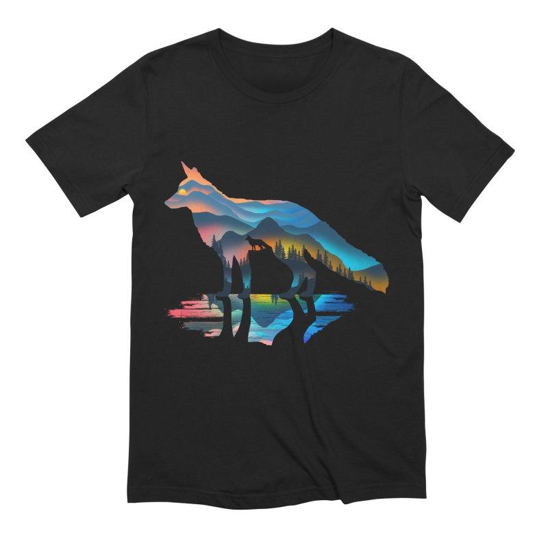 Mountain Fox Men's Extra Soft T-Shirt by clingcling's Artist Shop