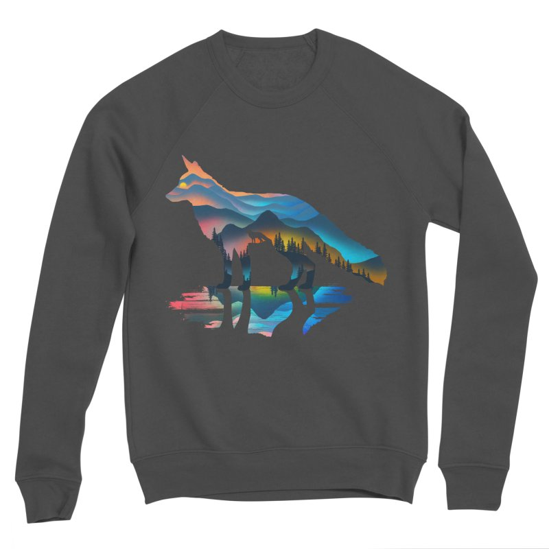 Mountain Fox Men's Sponge Fleece Sweatshirt by clingcling's Artist Shop