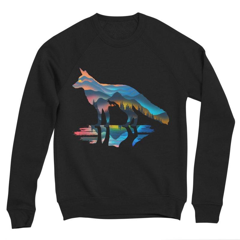 Mountain Fox Men's Sponge Fleece Sweatshirt by clingcling's Artist Shop