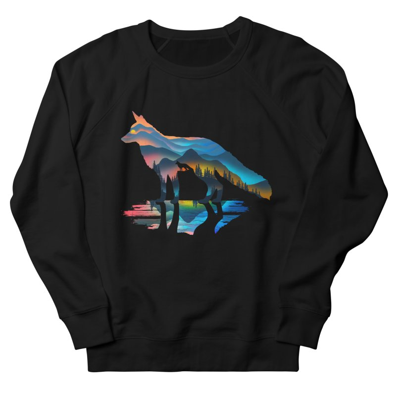 Mountain Fox Women's French Terry Sweatshirt by clingcling's Artist Shop