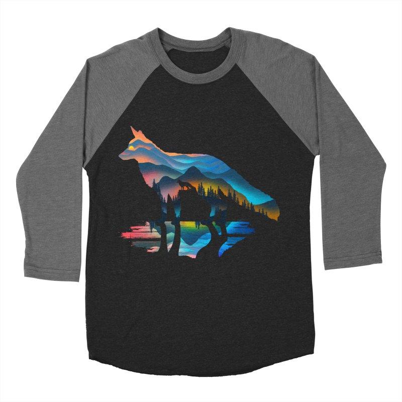 Mountain Fox Men's Baseball Triblend Longsleeve T-Shirt by clingcling's Artist Shop
