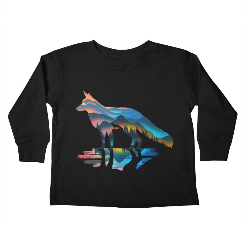 Mountain Fox Kids Toddler Longsleeve T-Shirt by clingcling's Artist Shop