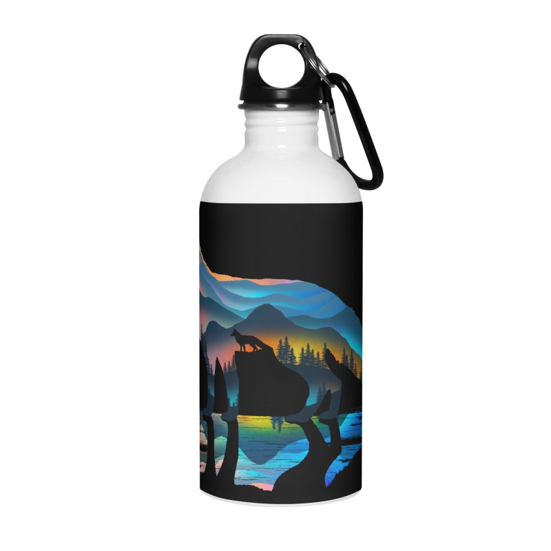 Mountain Fox Accessories Water Bottle by clingcling's Artist Shop