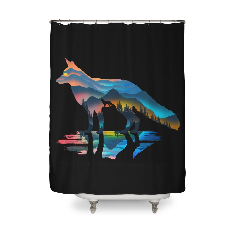 Mountain Fox Home Shower Curtain by clingcling's Artist Shop