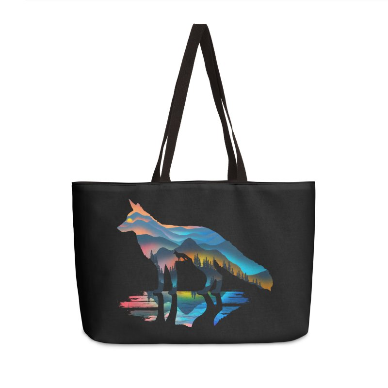Mountain Fox Accessories Weekender Bag Bag by clingcling's Artist Shop