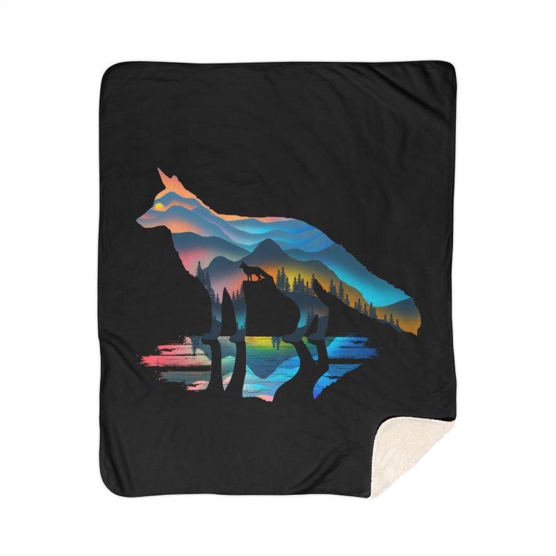 Mountain Fox Home Sherpa Blanket Blanket by clingcling's Artist Shop