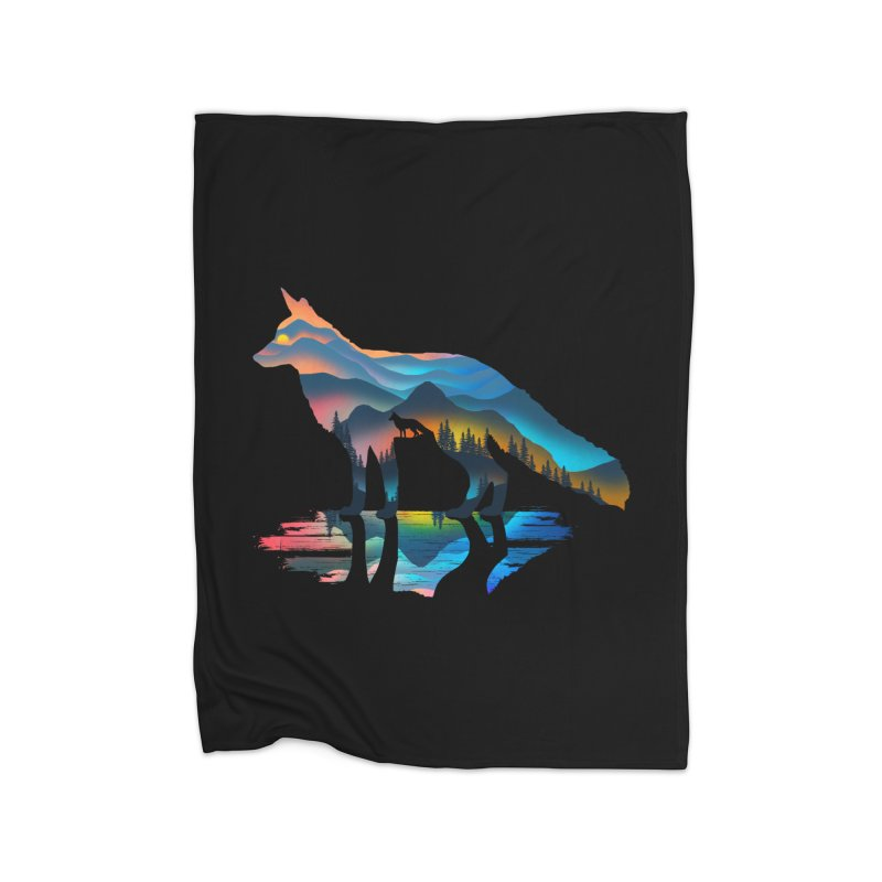 Mountain Fox Home Fleece Blanket Blanket by clingcling's Artist Shop