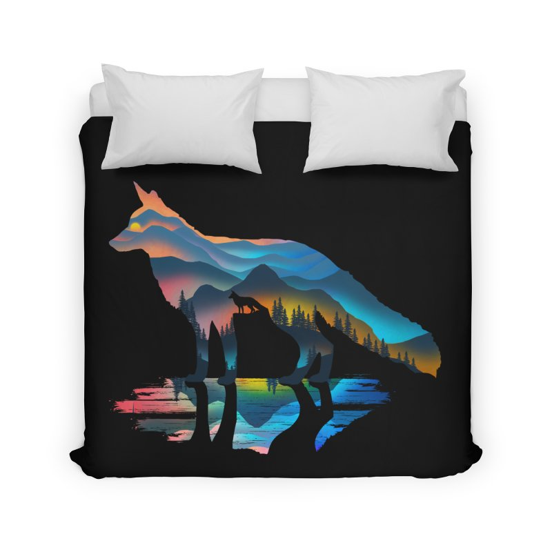 Mountain Fox Home Duvet by clingcling's Artist Shop