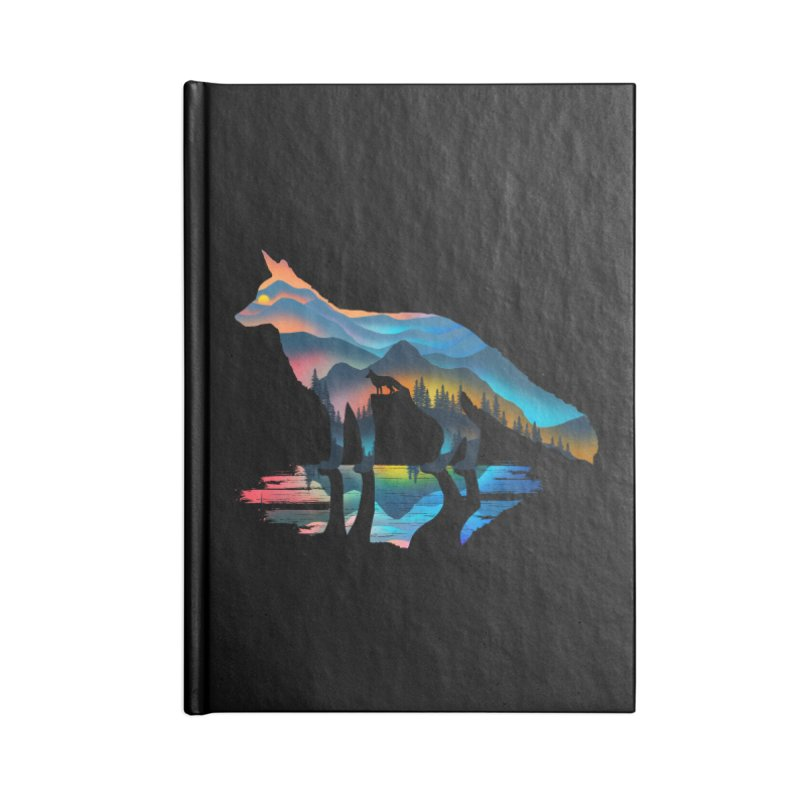 Mountain Fox Accessories Blank Journal Notebook by clingcling's Artist Shop