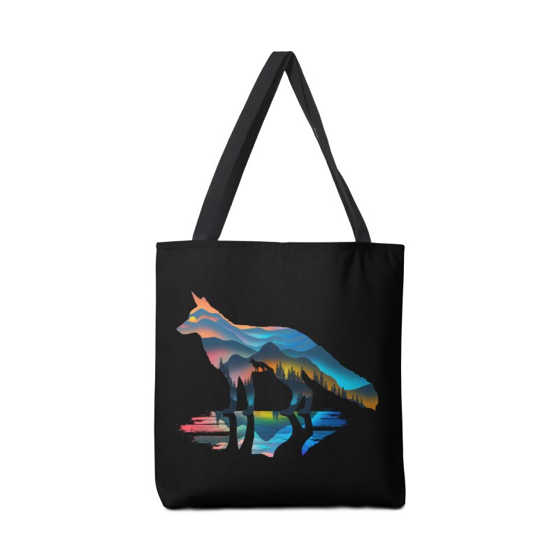 Mountain Fox Accessories Tote Bag Bag by clingcling's Artist Shop