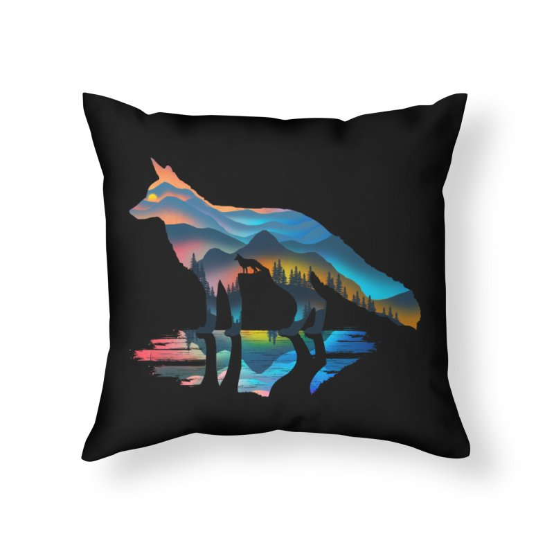 Mountain Fox Home Throw Pillow by clingcling's Artist Shop