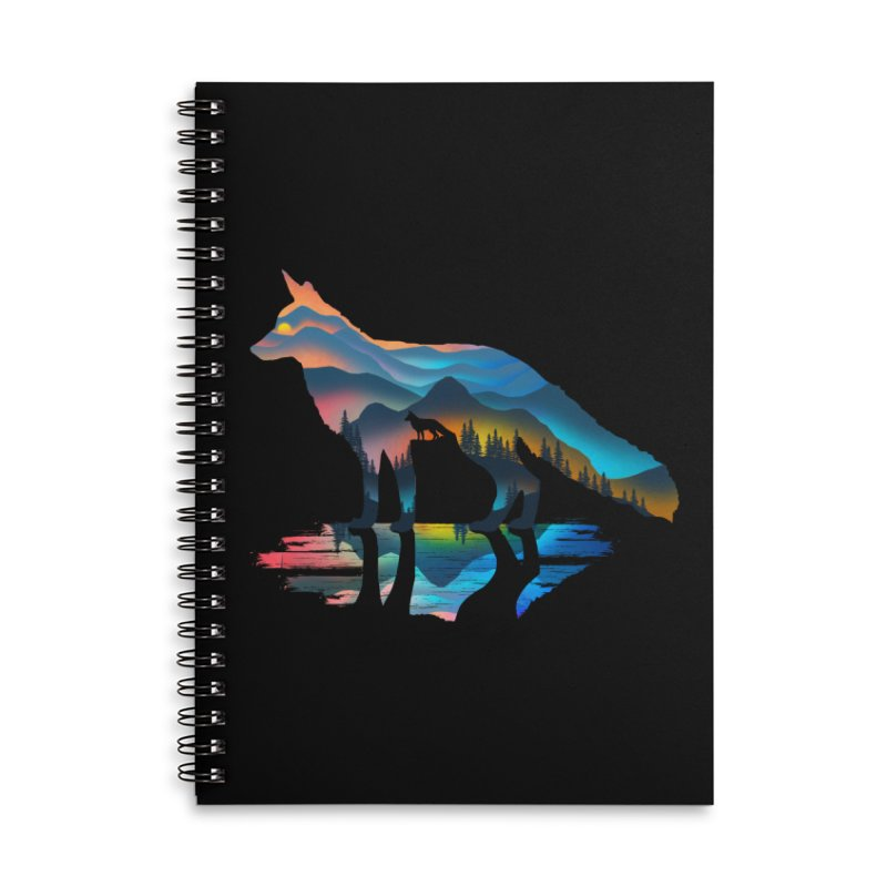Mountain Fox Accessories Lined Spiral Notebook by clingcling's Artist Shop