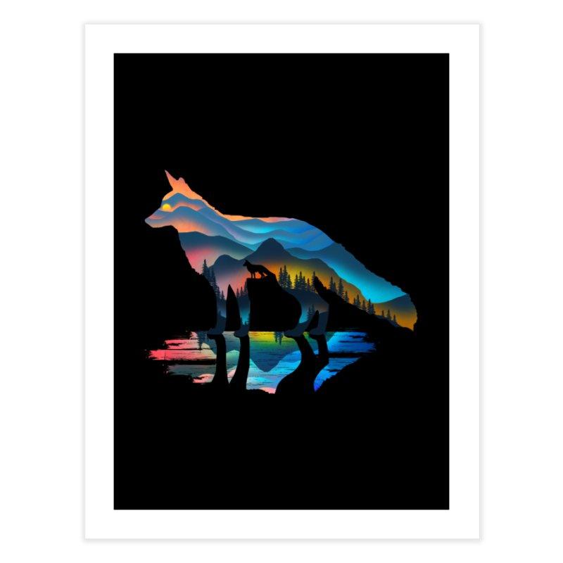 Mountain Fox Home Fine Art Print by clingcling's Artist Shop