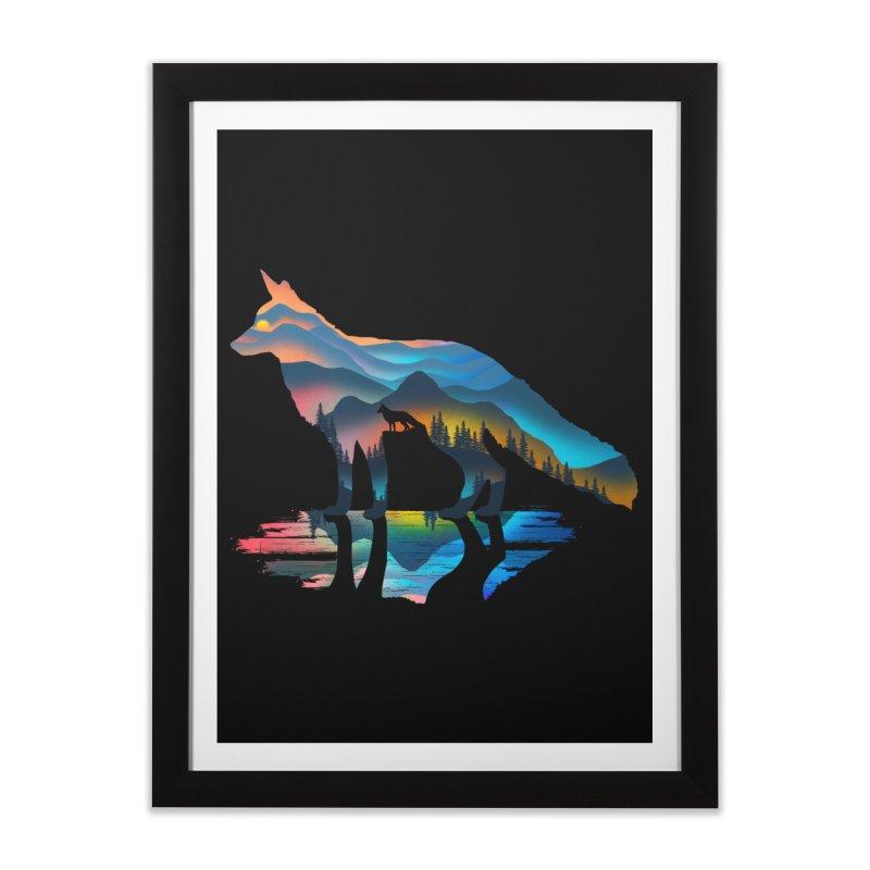 Mountain Fox Home Framed Fine Art Print by clingcling's Artist Shop