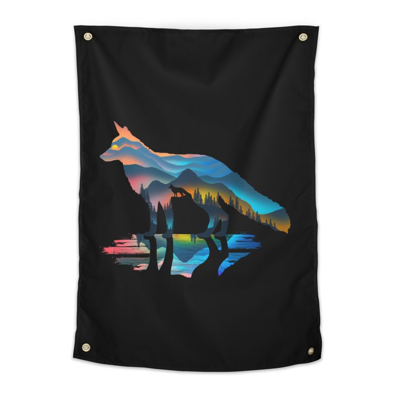 Mountain Fox Home Tapestry by clingcling's Artist Shop