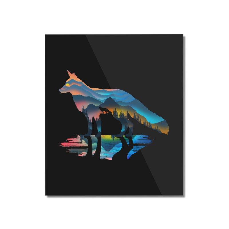 Mountain Fox Home Mounted Acrylic Print by clingcling's Artist Shop
