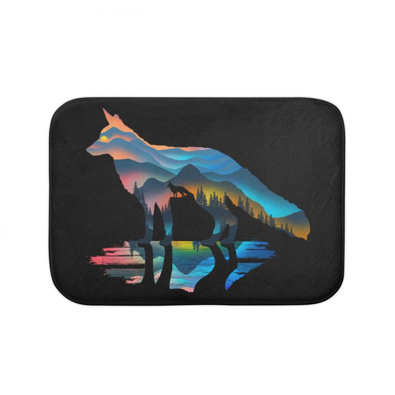 Mountain Fox Home Bath Mat by clingcling's Artist Shop