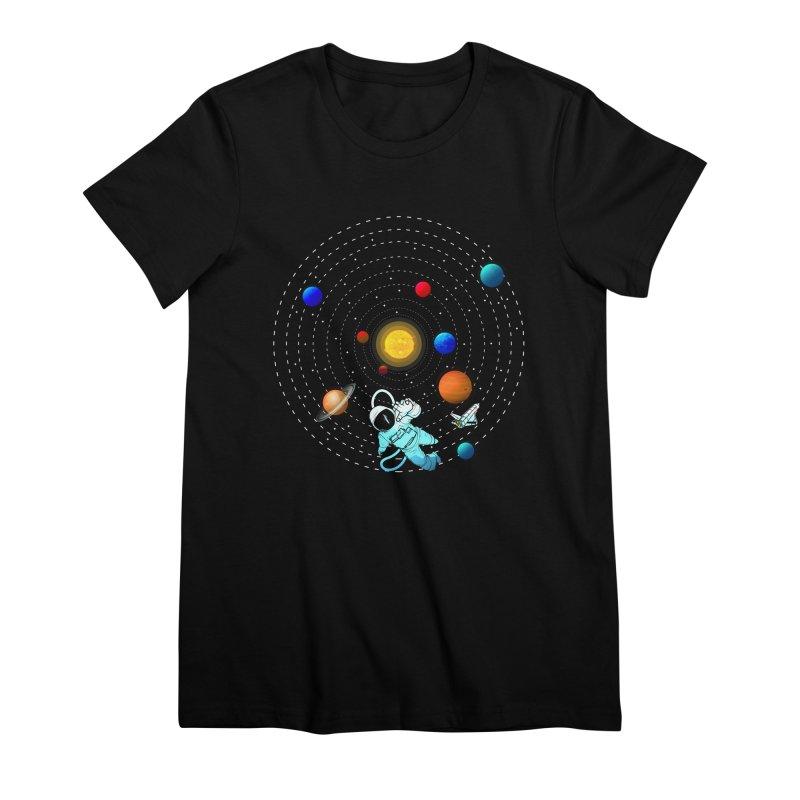 Space Travel Women's Premium T-Shirt by clingcling's Artist Shop