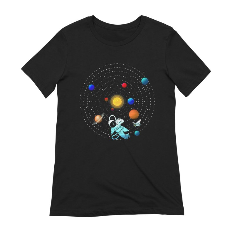 Space Travel Women's Extra Soft T-Shirt by clingcling's Artist Shop