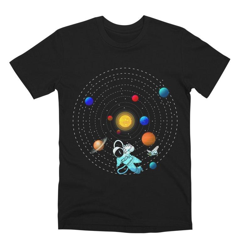 Space Travel Men's Premium T-Shirt by clingcling's Artist Shop