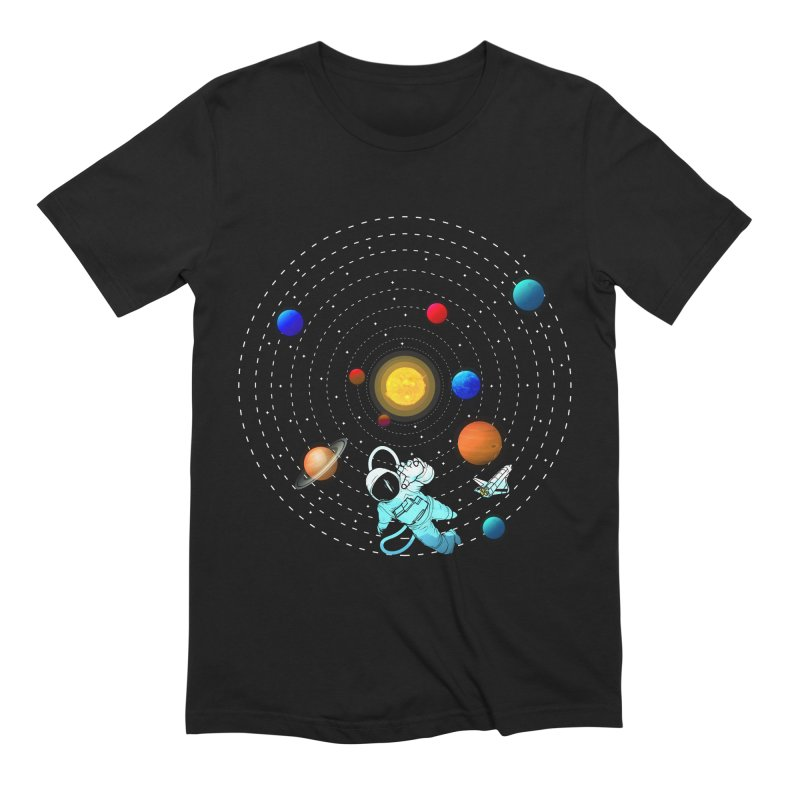 Space Travel Men's Extra Soft T-Shirt by clingcling's Artist Shop