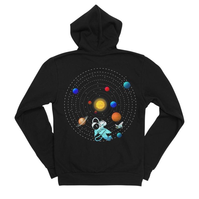 Space Travel Men's Sponge Fleece Zip-Up Hoody by clingcling's Artist Shop